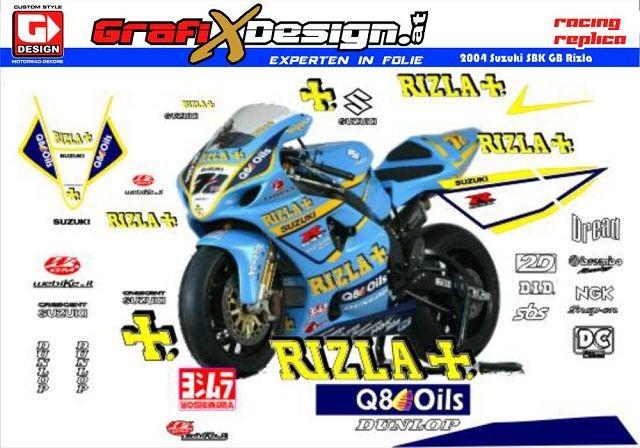 2004 Kit Suzuki SBK UK Rizla