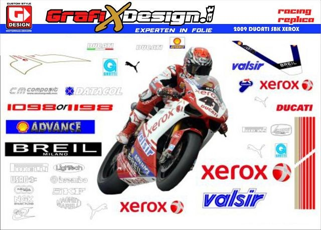 2009 Kit Ducati Superbike Xerox