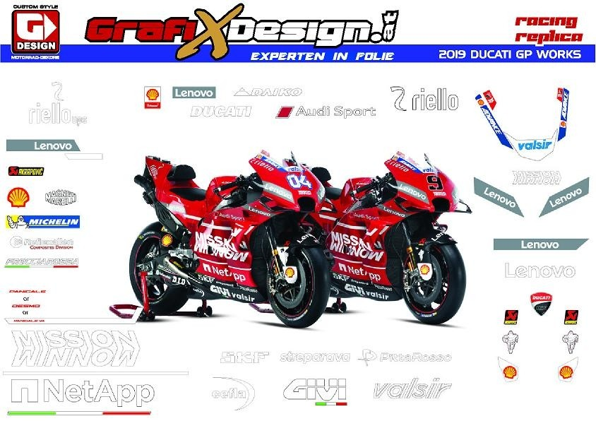 2019 Kit Ducati GP Works