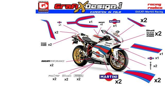 2014 kit ducati martini racing. Black Bedroom Furniture Sets. Home Design Ideas