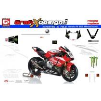 2015 Kit Yamaha R1 BSB Milwaukee red